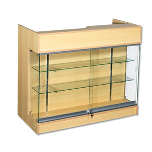 4' Ledgetop Counter with Showcase Front