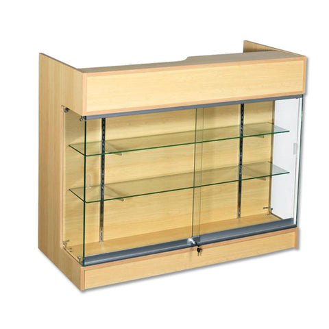 Image of 4' Ledgetop Counter with Showcase Front