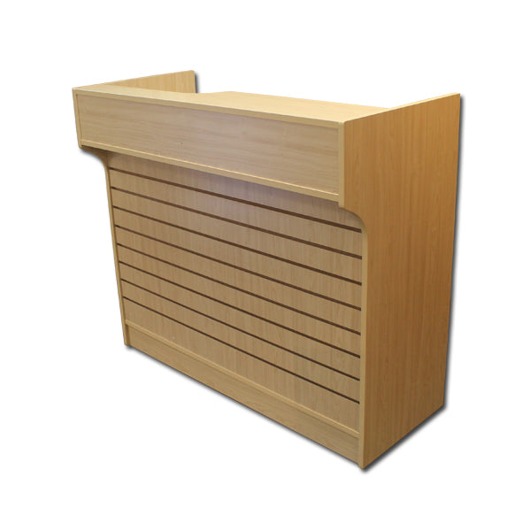 4' Ledgetop Counter with Slatwall Front