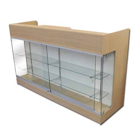 Image of 6' Ledgetop Counter with Showcase Front