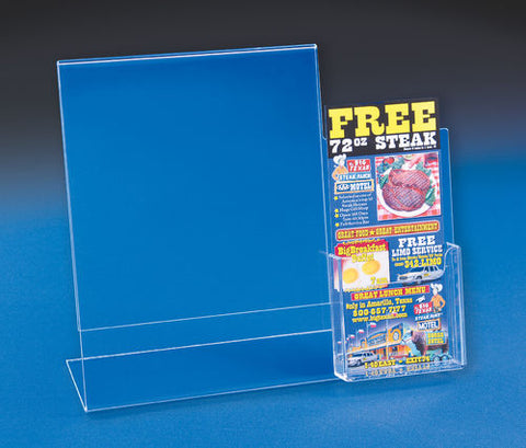 Sign Holder with Brochures