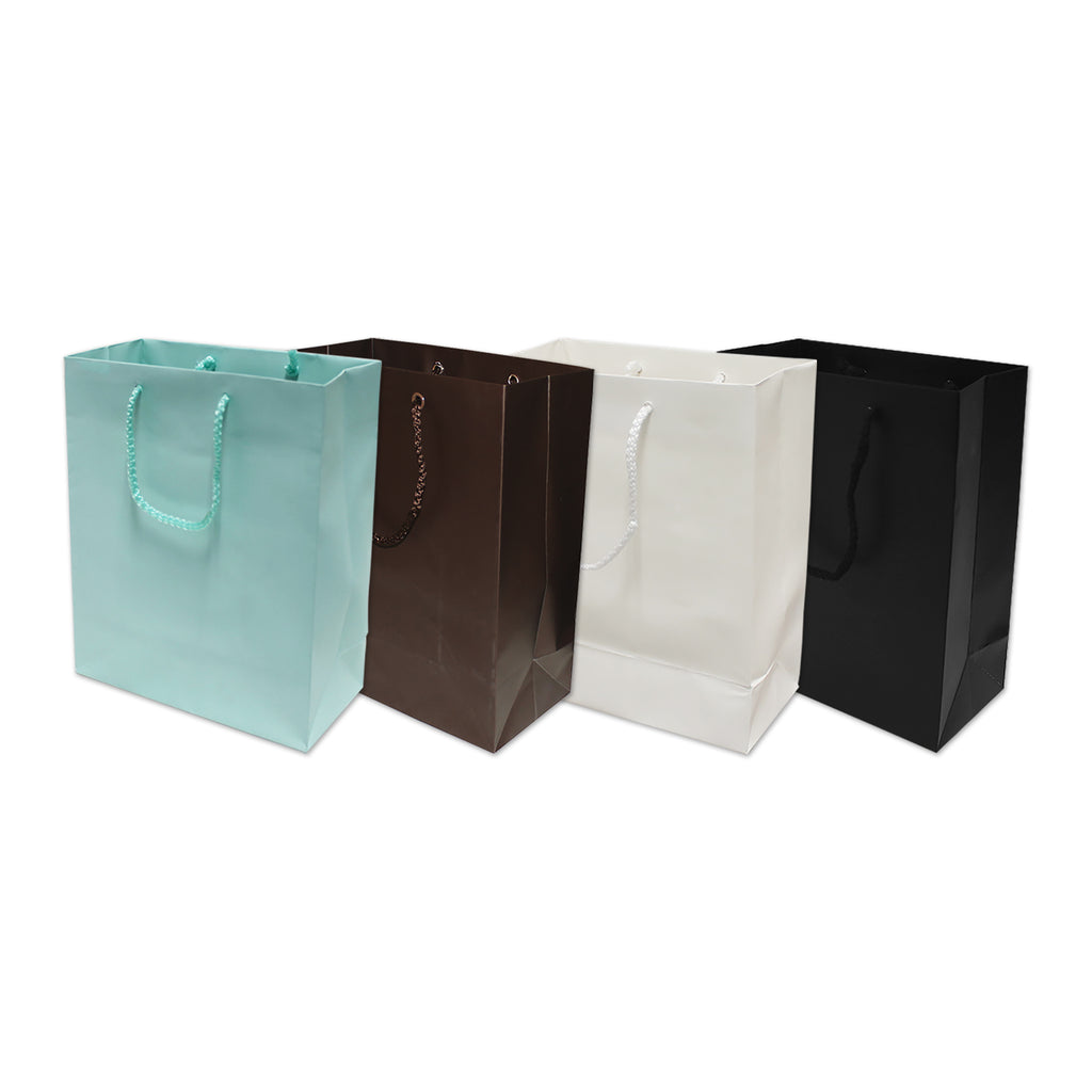 Matte finish gift bags