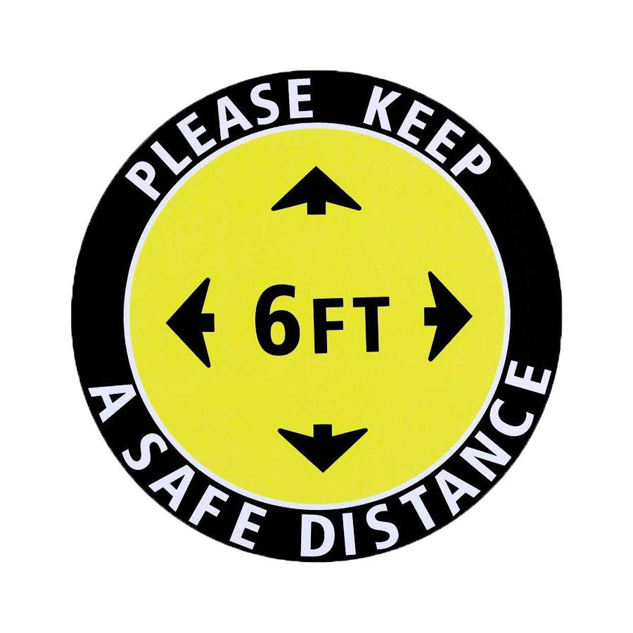 PPE Safety Floor Decal - Set of 5
