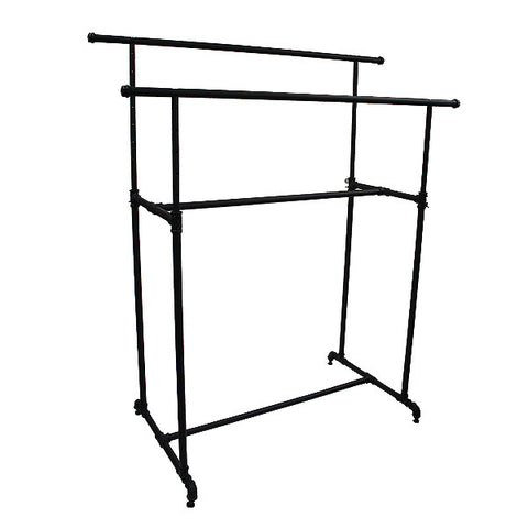 Pipeline - Double Bar Rack - Matte Black