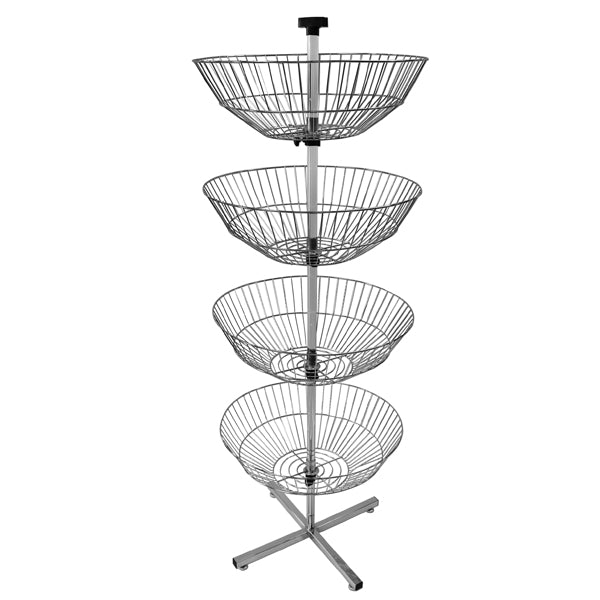 4 Basket Rack - Chrome