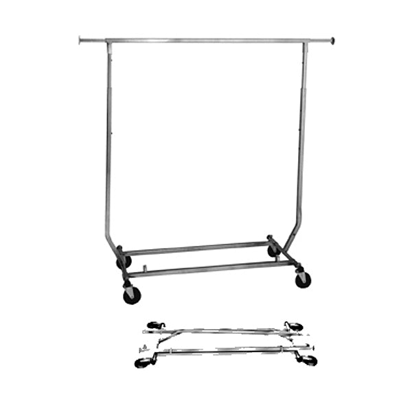 Collapsible Single Bar Rolling Rack SQUARE TUBING