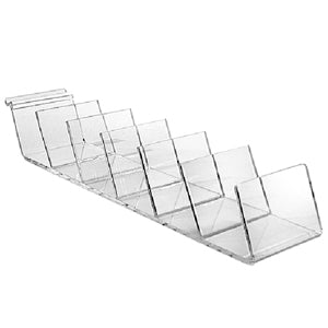 Slatwall Lucite Clutch Display