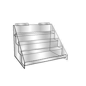 Slatwall 4 Tier Video & Literature Holder