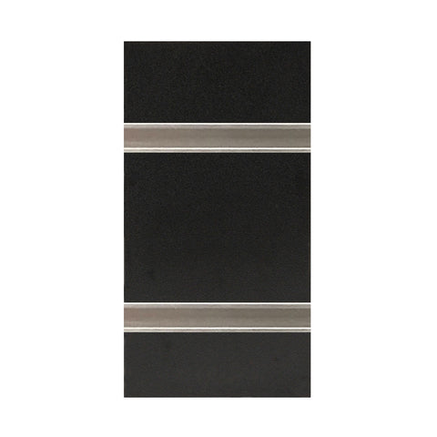Image of slatwall black with metal inserts