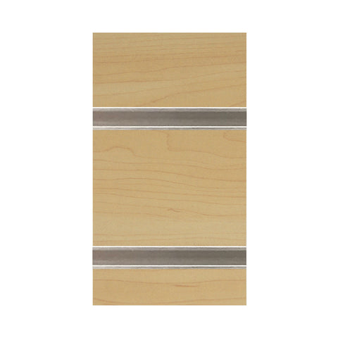 Image of slatwall sheet maple with metal inserts