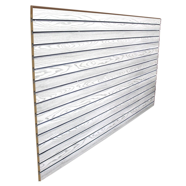 slatwall sheet white woodgrain finish