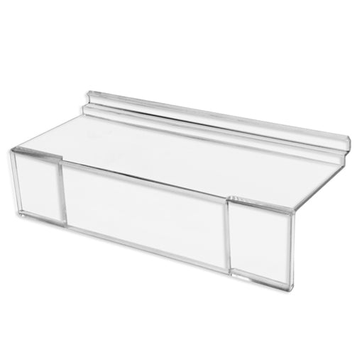"Slatwall 4"" x 10"" Styrene Shoe Shelf with Sign Holder"