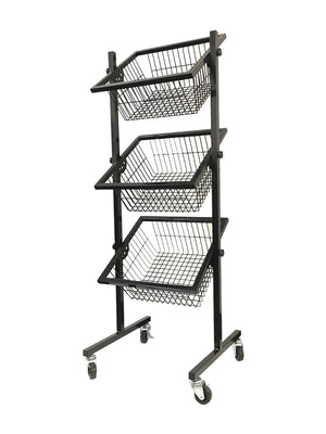 Wire Basket Rack - 3 Tier