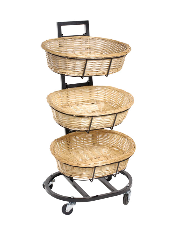 Wicker Oval 3 Tier