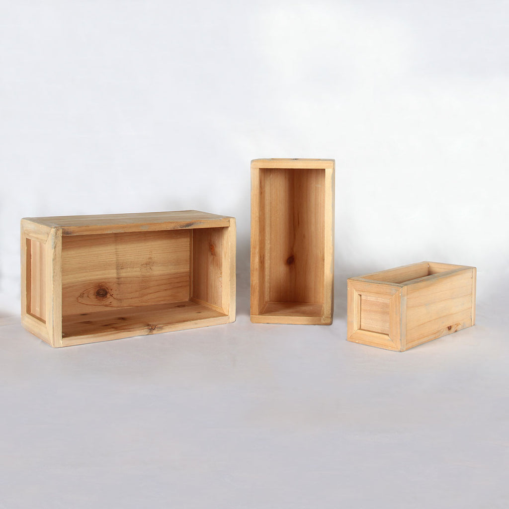 Pair of Three Rectangular Risers
