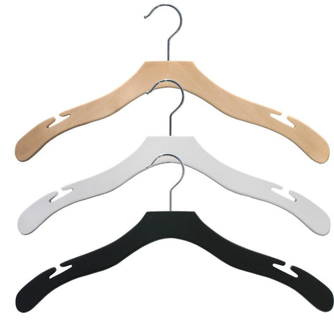 designer wood top hangers