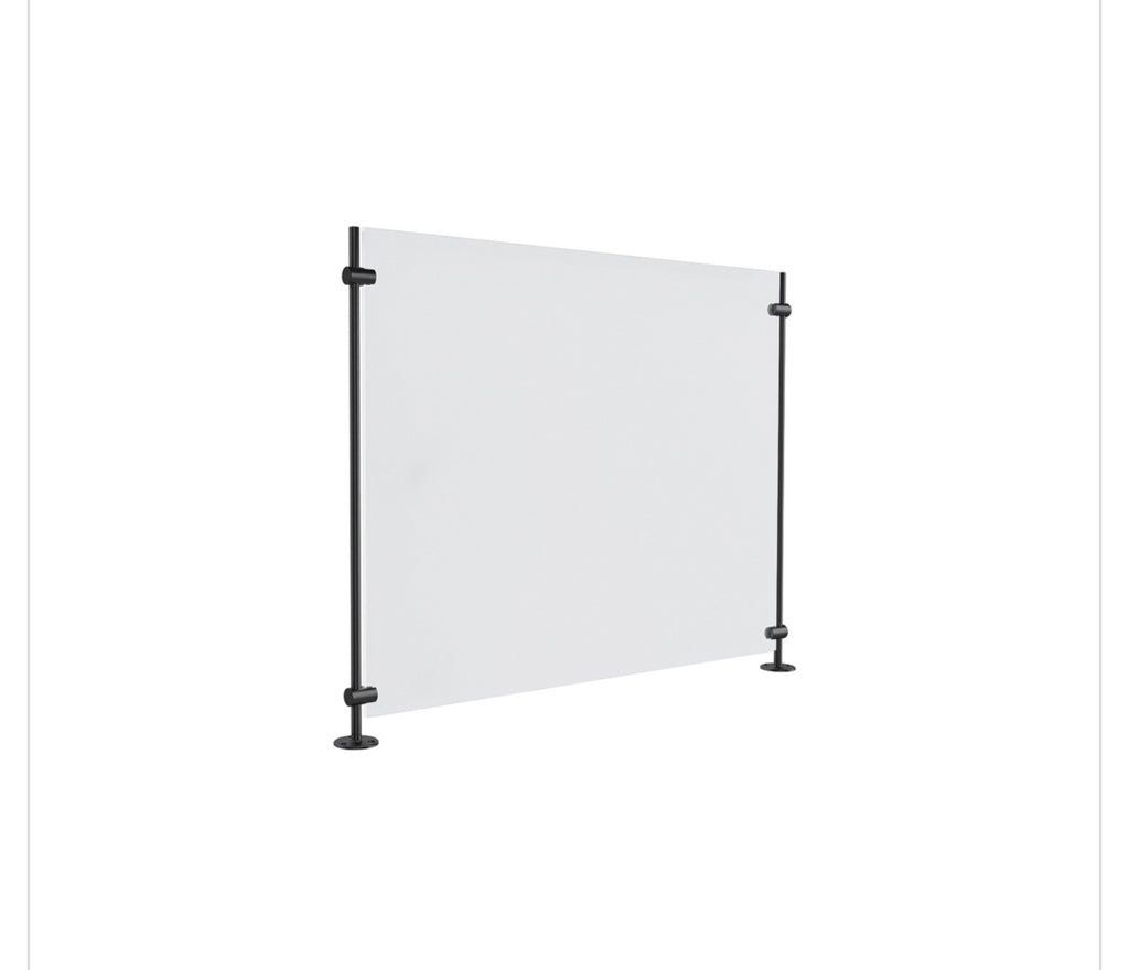 counter mount clear barrier
