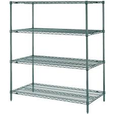green epoxy wire shelves