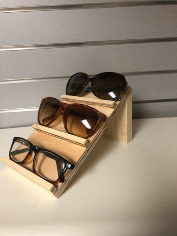 wood eyewear displayer