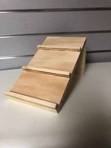 Wood eyewear tray