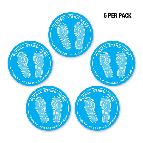 Image of PPE Safety Floor Decal - Set of 5