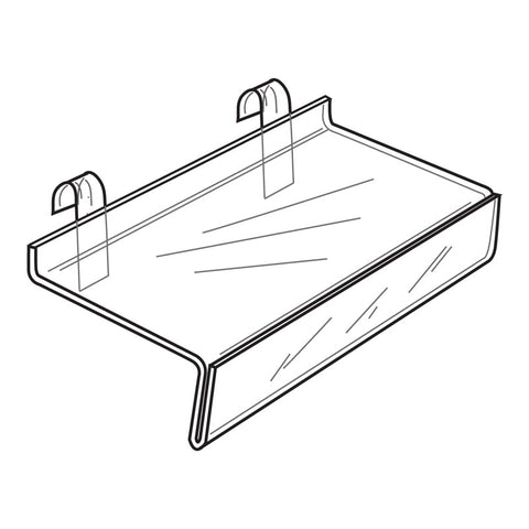 Gridwall Flat Shelves