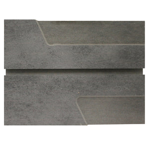 Grey Heavy Metal Slatwall