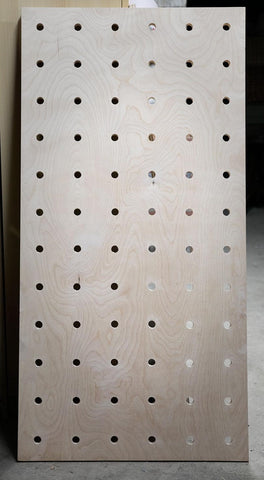 jumbo peg birch finish wood panel