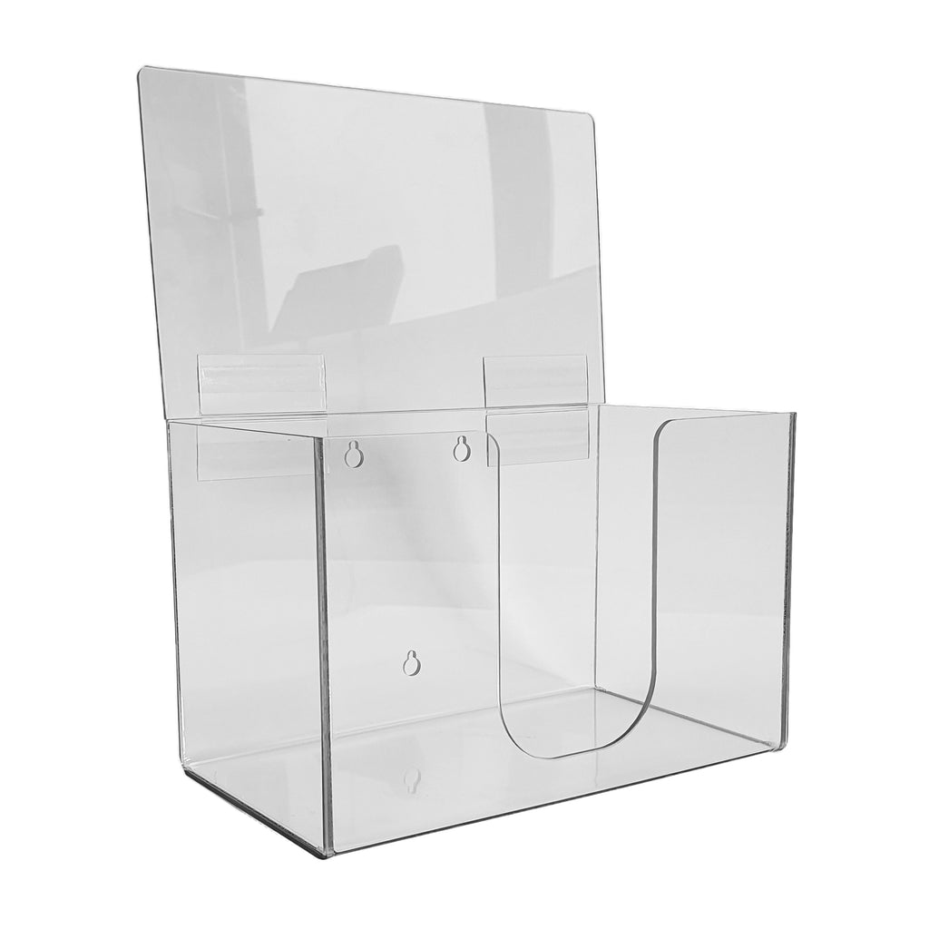 Clear Plastic mask dispenser