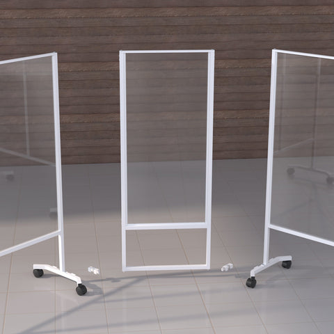 Image of Clear plastic mobile partition