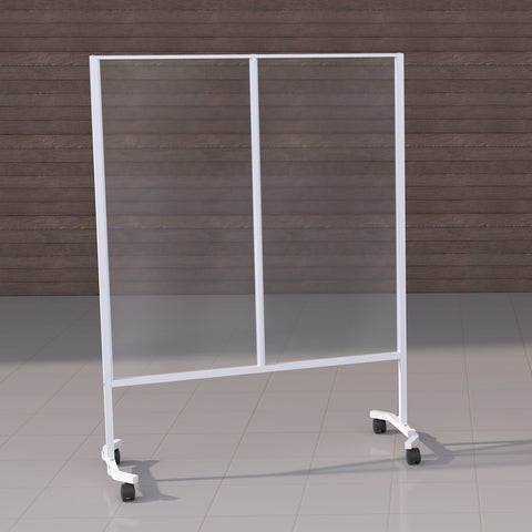 Image of White mobile barrier clear