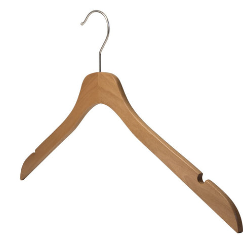 "SLIM Line Wood Hanger - top 17"" - Multiple Colors"