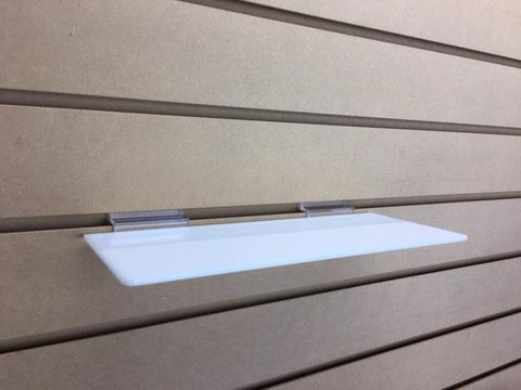 slatwall shelf white
