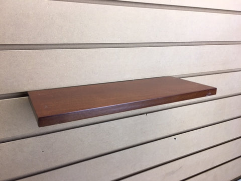 Image of wood slatwall shelves