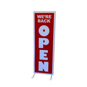 Sidewalk Sign - We're Back Open