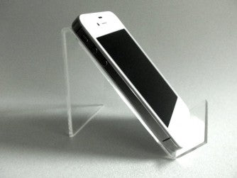 Image of mobile phone holder clear easel