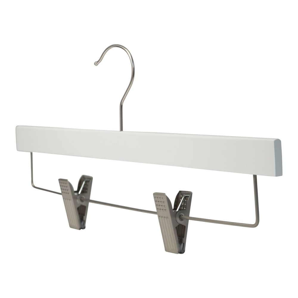 wood pants hanger super thin white