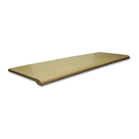 "Image of Plastic Bullnose Shelves - 13"" x 48"""