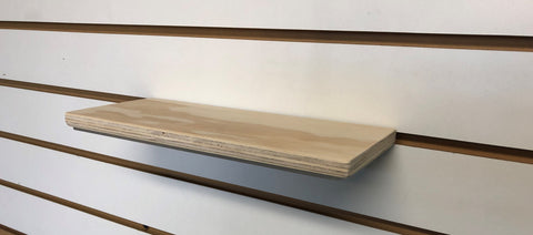 Wood Slatwall Shelf