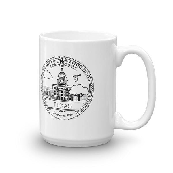 Texas Seal 15oz Coffee Mug