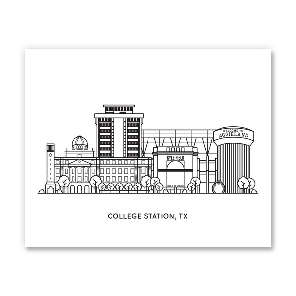 College Station, Texas - Art Print