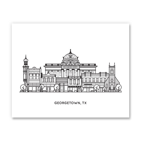 Georgetown, Texas - Art Print