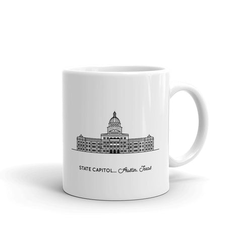 Texas Capitol Building 11oz Coffee Mug