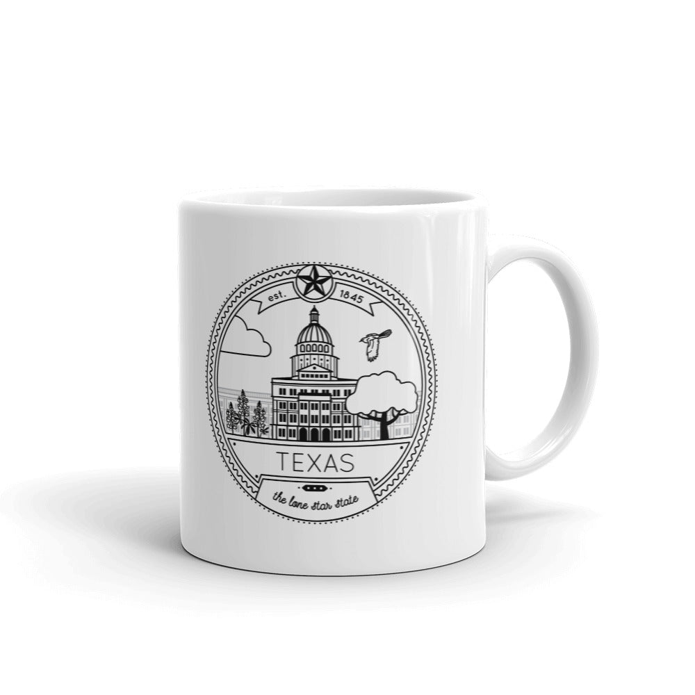 Texas Seal 11oz Coffee Mug