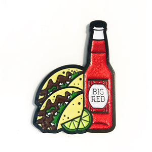 Barbacoa and Big Red Enamel Pin