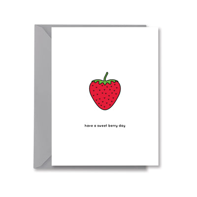 have a sweet berry day Greeting Card by Kelly Renay