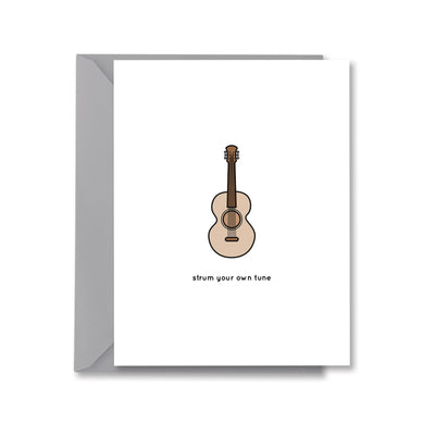 strum your own tune Greeting Card by Kelly Renay