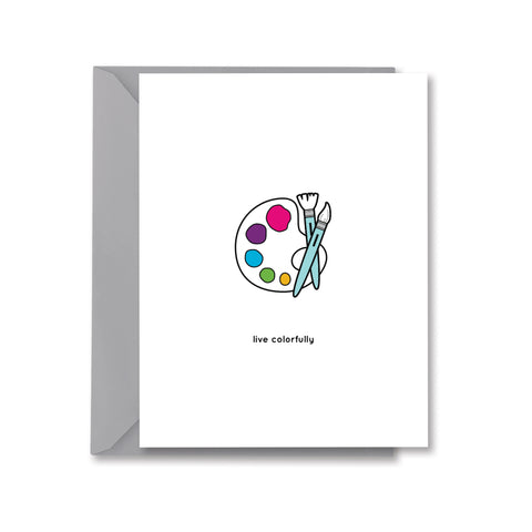 Live Colorfully Card
