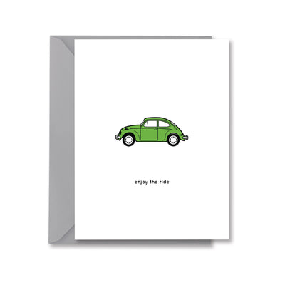 enjoy the ride Greeting Card by Kelly Renay