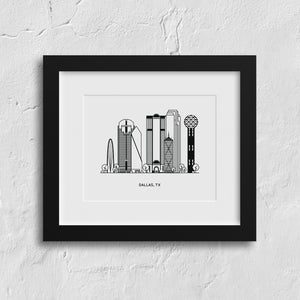 Dallas Texas Art Print